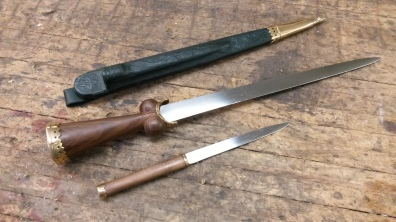 Custom Ballock dagger and by-knife set