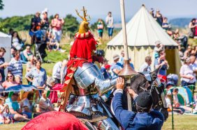 Carisbrooke Castle Joust, UK 2016 (Photo by Ian Foss)